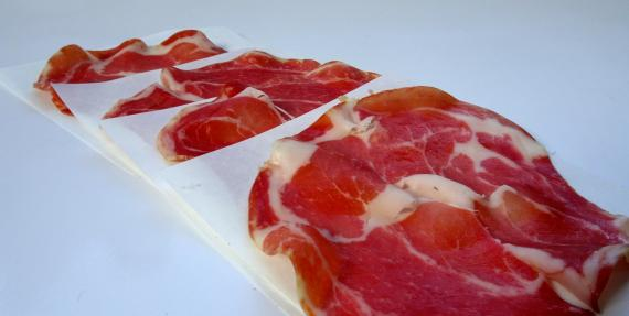 White Meatsaver paper with pancetta